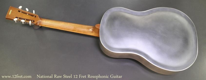 National Raw Steel 12 Fret Resophonic Guitar Full Rear View