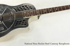 National Reso Rocket Steel Cutaway Resophonic Guitar Full Front View