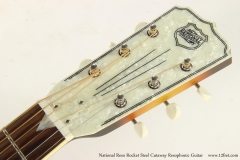 National Reso Rocket Steel Cutaway Resophonic Guitar   Head Front View