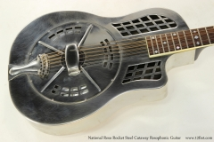National Reso Rocket Steel Cutaway Resophonic Guitar   Top View