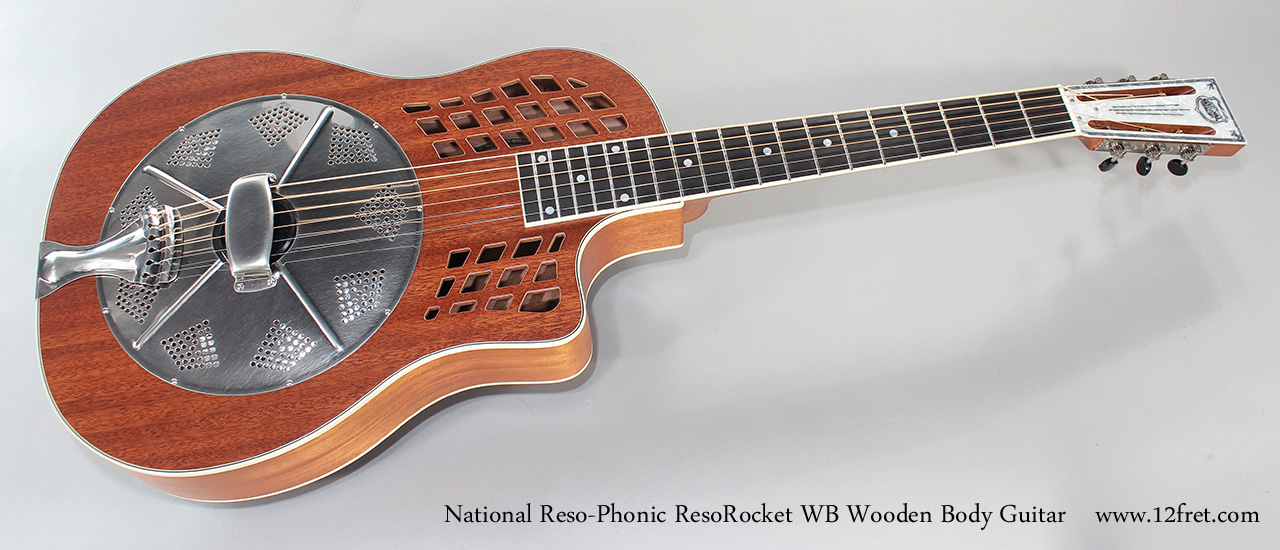 National Reso-Phonic ResoRocket WB Wooden Body Guitar Full Front View