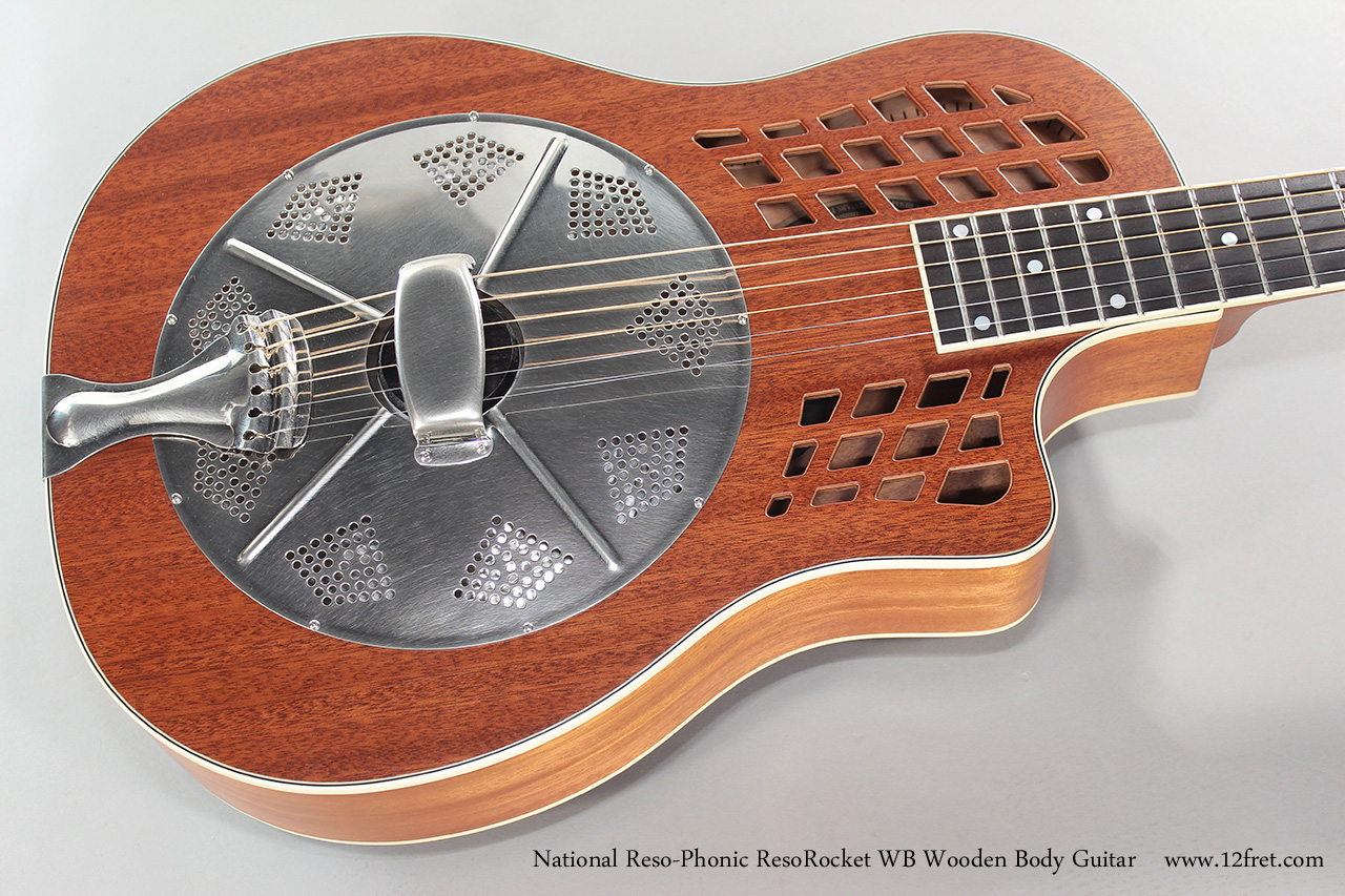 National Reso-Phonic ResoRocket WB Wooden Body Guitar Top View