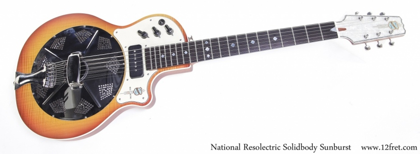 National Resolectric Solidbody Sunburst Full Front View