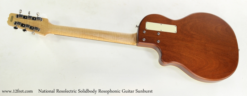 National Resolectric Solidbody Resophonic Guitar Sunburst Full Rear View