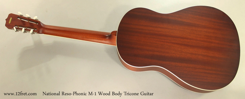 National Reso-Phonic M-1 Wood Body Tricone Guitar Full Rear View