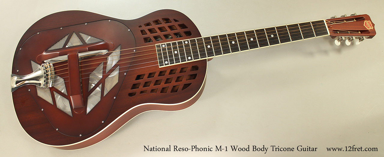 National Reso-Phonic M-1 Wood Body Tricone Guitar Full Front View