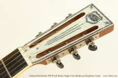 National ResoRocket WB Wood Rocket Single Cone Bendaway Resophonic Guitar Head Front View
