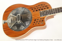 National ResoRocket WB Wood Rocket Single Cone Bendaway Resophonic Guitar Top View