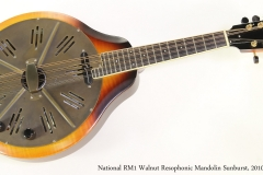 National RM1 Walnut Resophonic Mandolin Sunburst, 2010  Full Front View