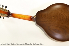 National RM1 Walnut Resophonic Mandolin Sunburst, 2010  Full Rear View