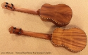 National Resophonic Rope Bound Koa Resonator Ukuleles full rear view