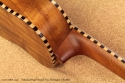 National Resophonic Rope Bound Koa Resonator Ukuleles heel 1