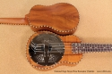 National Resophonic Rope Bound Koa Resonator Ukuleles top and back