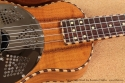 National Resophonic Rope Bound Koa Resonator Ukuleles top detail 1