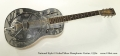 National Style 0 Etched Silver Resophonic Guitar, 1930s  Full Front View