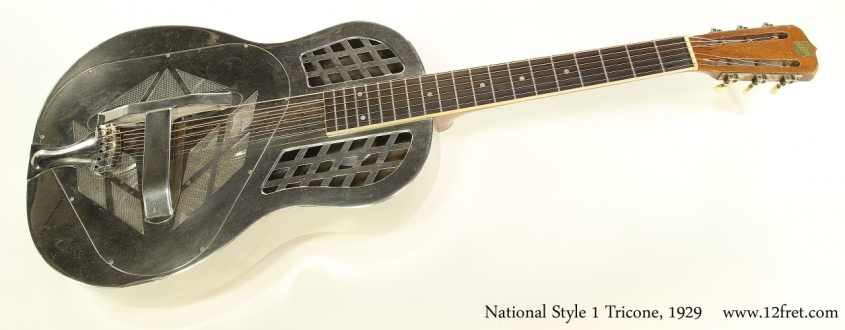 National Style 1 Tricone Nickel, 1929 Full Front View