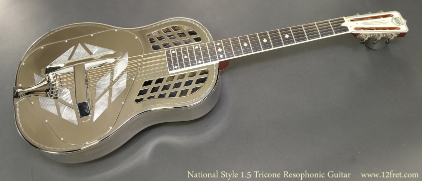 National Style 1.5 Tricone Resophonic Guitar Full Front View
