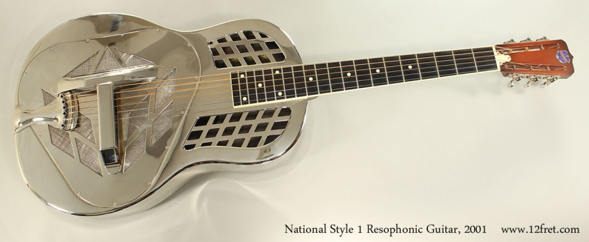 National Style 1 Resophonic Guitar, 2001 Full Front VIew