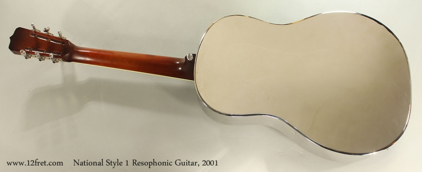 National Style 1 Resophonic Guitar, 2001 Full Rear View