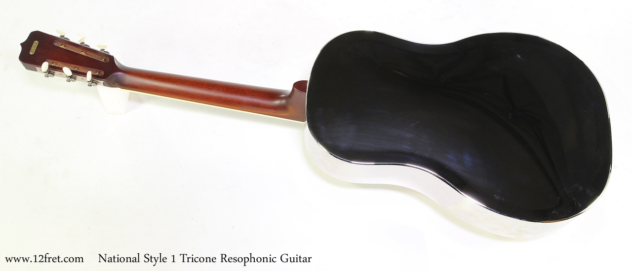 National Style 1 Tricone Resophonic Guitar   Full Rear View