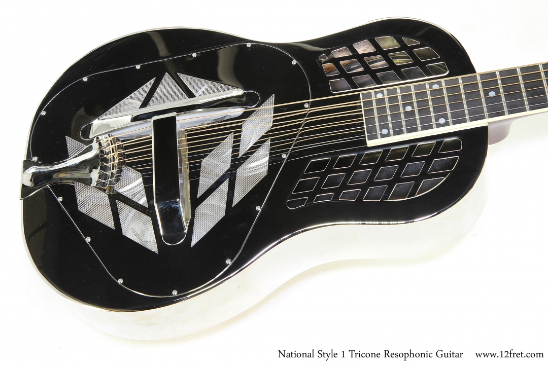 National Style 1 Tricone Resophonic Guitar   Top View