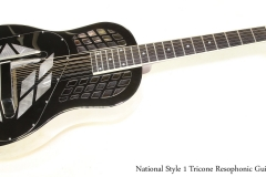 National Style 1 Tricone Resophonic Guitar   Full Front View