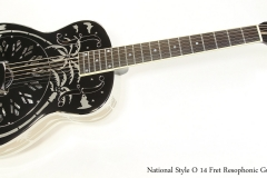 National Style O 14 Fret Resophonic Guitar  Full Front View