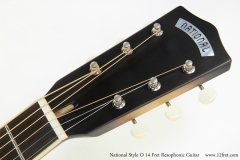 National Style O 14 Fret Resophonic Guitar  Head Front View