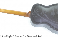 National Style O Steel 14 Fret Weathered Steel Full Rear View