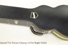 National T14 Tricone Cutaway 14 Fret Bright Nickel   Case Closed View
