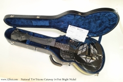national-tricone-cw-naNational T14 Tricone Cutaway 14 Fret Bright Nickel   Case Open Viewickel-ss-case-open