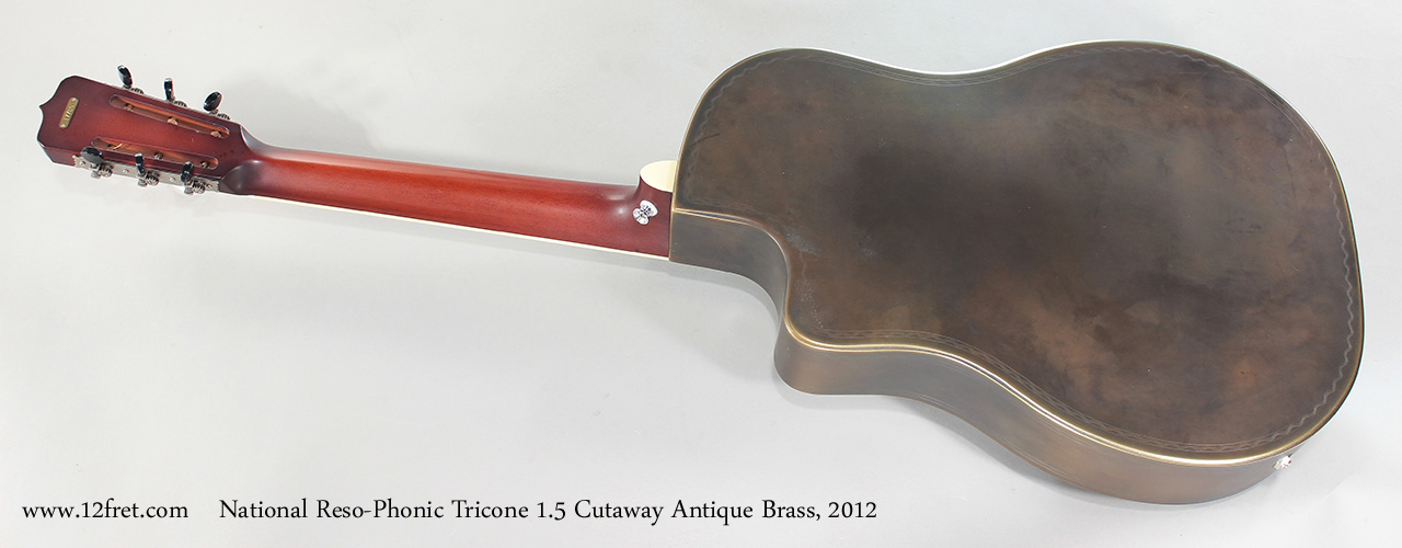 National Reso-Phonic Tricone 1.5 Cutaway Antique Brass, 2012 Full Rear View