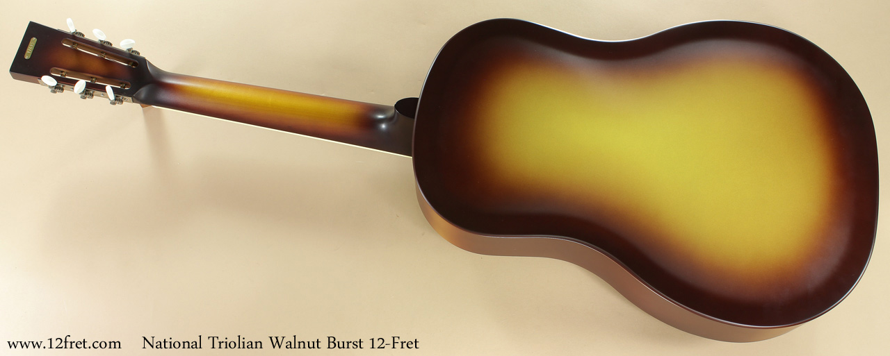 National Triolian Walnut Burst 12-Fret full rear view