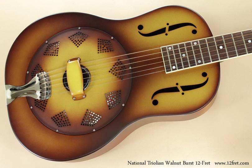 National Triolian Walnut Burst 12-Fret top
