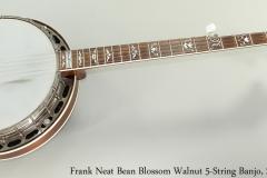 Frank Neat Bean Blossom Walnut 5-String Banjo, 2003 Full Front View
