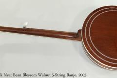 Frank Neat Bean Blossom Walnut 5-String Banjo, 2003 Full Rear View
