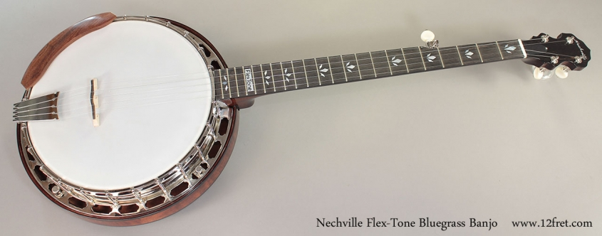 Nechville Flex-Tone Bluegrass Banjo full front view