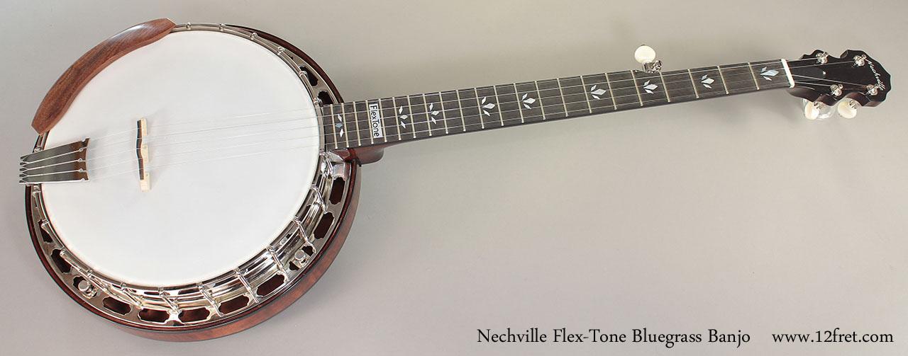 Nechville Flex-Tone Bluegrass Banjo full front view