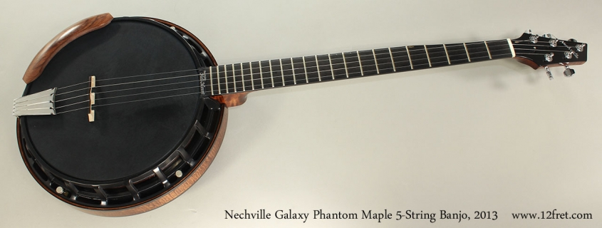 Nechville Galaxy Phantom Maple 5-String Banjo, 2013 Full Front View