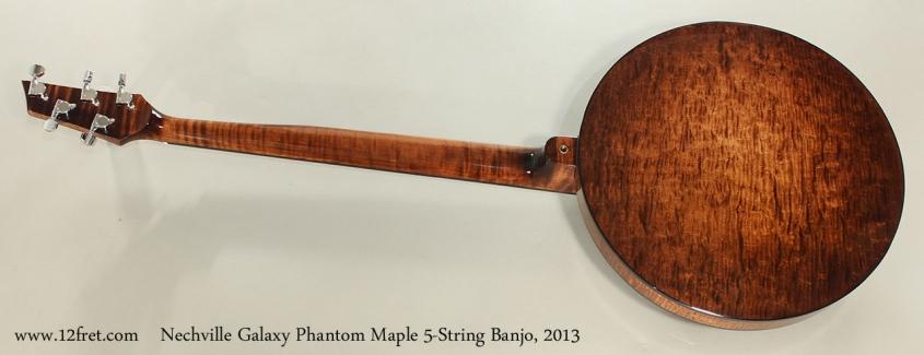 Nechville Galaxy Phantom Maple 5-String Banjo, 2013 Full Rear View