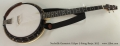 Nechville Geometric Eclipse 5-String Banjo, 2012  Full Front View