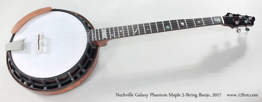 Nechville Galaxy Phantom Maple 5-String Banjo, 2017 Full Front View