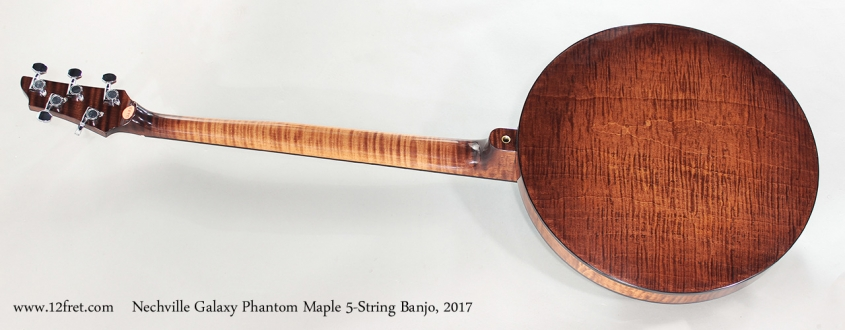 Nechville Galaxy Phantom Maple 5-String Banjo, 2017 Full Rear View