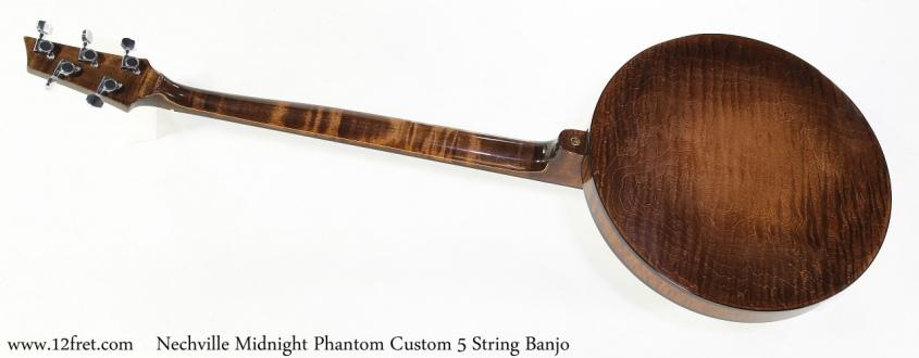 Nechville Midnight Phantom Custom 5 String Banjo Full Rear View