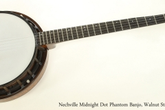 Nechville Midnight Dot Phantom Banjo, Walnut Stain 2012  Full Front View