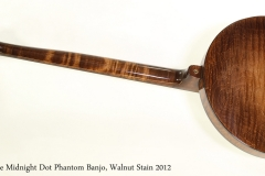 Nechville Midnight Dot Phantom Banjo, Walnut Stain 2012  Full Rear View
