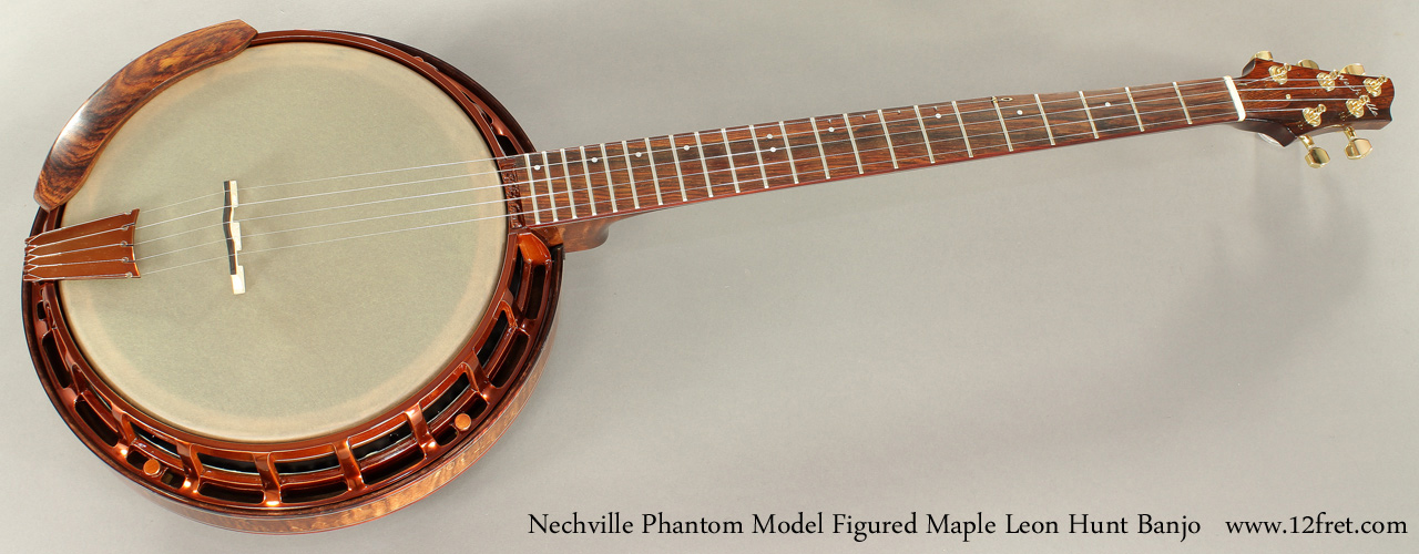 Nechville Phantom Model Leon Hunt Banjo full front view