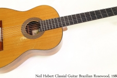 Neil Hebert Classical Guitar Brazilian Rosewood, 1986 Full Front View