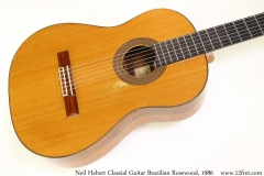 Neil Hebert Classical Guitar Brazilian Rosewood, 1986 Top View
