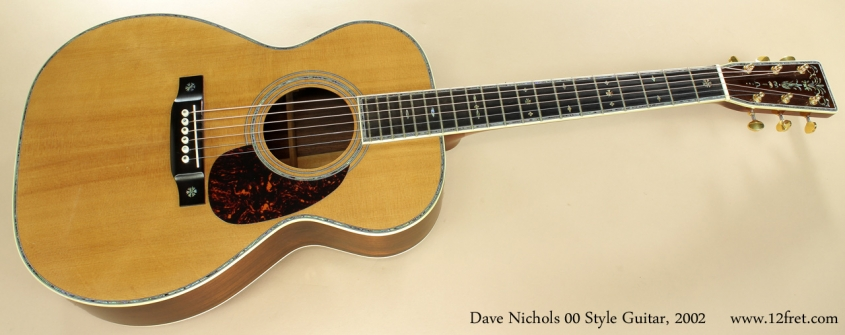 Dave Nichols 00 Style Acoustic 2002 full front view